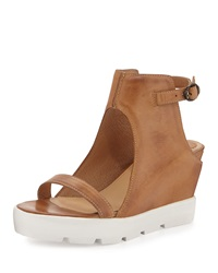 Max Studio Zine Hidden Wedge Platform Sandal Tobacco