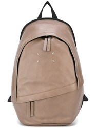 Maison Martin Margiela Stitch Detail Backpack Nude And Neutrals