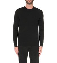 Armani Jeans Crewneck Knitted Jumper Nero