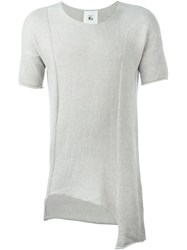 Lost And Found Rooms Shortsleeved Asymmetric Sweater Grey