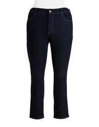 Nydj Plus Ira Relaxed Ankle Jeans Dark Enzyme