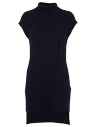 Whistles Ribbed Longline Tunic Navy