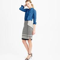 J.Crew Petite Paneled Geometric Jacquard Pencil Skirt