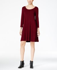 Styleandco. Style Co. Petite Swing Dress Only At Macy's Deep Scarlet