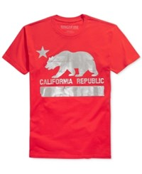Ring Of Fire Men's Graphic Print T Shirt Only At Macy's Red