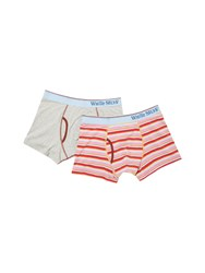 White Stuff Bowie Stripe Boxer Double Pack Multi Coloured