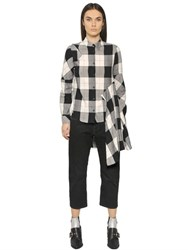 Maison Martin Margiela Light Check Cotton Viscose Twill Shirt
