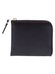 Comme Des Garcons Wallet Quilted Zip Up Wallet Black