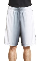 Nike Men's 'Elite Stripe' Dri Fit Basketball Shorts Black Wolf Grey White