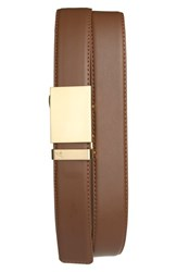 Men's Mission Belt 'Gold' Leather Belt Gold Mocha