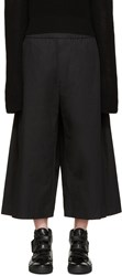 Lad Musician Black Cropped Poplin Trousers