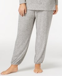 Alfani Plus Size Brushed Jogger Pajama Pants Only At Macy's Light Heather Grey