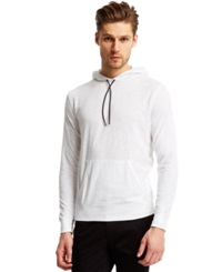 Kenneth Cole Reaction Textured T Shirt Hoodie White