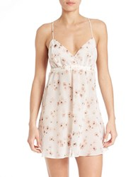 Flora Nikrooz Floral Lace Chemise Ivory