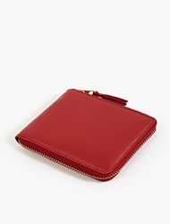 Comme Des Garcons Red Leather Zip Wallet