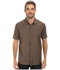 Icebreaker Departure S S Shirt Trail Men's Short Sleeve Button Up Brown