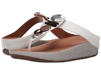 Fitflop Jeweley Toe Post Urban White Women's Sandals Pink