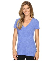 Adidas 24 Seven Deep V Neck Tee Bold Blue Ice Blue Women's Workout
