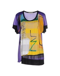 Angelo Marani Topwear T Shirts Women Yellow