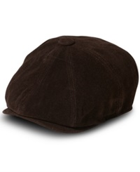 Sean John Hat Moleskin Newsboy Cap Brown