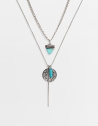 Asos Necklace Pack With Turquoise Silver