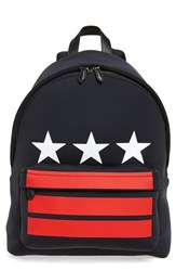 Givenchy Men's Neoprene Backpack Black Black Red