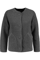 Marc By Marc Jacobs Lucinda Ribbed Cotton Blend Jacket Gray