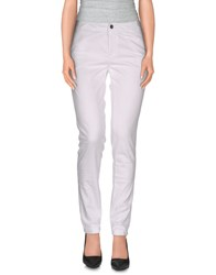 M.Grifoni Denim Trousers Casual Trousers Women White
