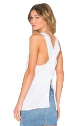 Enza Costa Overlap Back Tank Cream