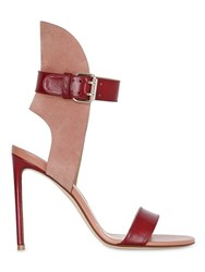 Francesco Russo 105Mm Leather And Suede Sandals