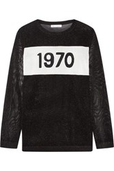 Bella Freud 1970 Metallic Intarsia Knitted Sweater Black