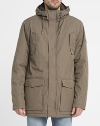 Rvca Khaki Ground Jacket Patch Pockets Parka