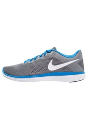 Nike Performance Flex 2016 Run Lightweight Running Shoes Cool Grey White Loyal Blue Photo Blue