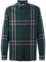 Burberry Checked Shirt Green