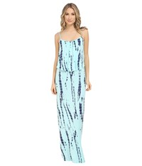 Culture Phit Monicah Maxi Dress Baby Blue Tie Dye Women's Dress Green
