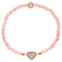 Melissa Odabash Quartz Bead And Heart Bracelet Pink