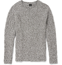 Paul Smith Cable Knit Cotton Blend Sweater Gray
