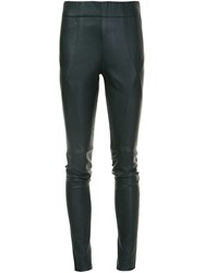 Zero Maria Cornejo Stitch Detailing Leggings Black