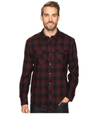 Icebreaker Lodge Long Sleeve Flannel Shirt Redwood Stealth Black Men's Clothing