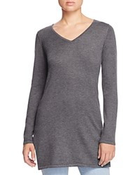 Design History Ribbed High Low Sweater Wallstreet Grey