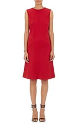 Giorgio Armani Women's Wool Crepe A Line Dress Red