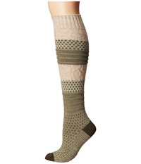 Smartwool Popcorn Cable Knee Highs Light Loden Heather Women's Knee High Socks Shoes Green