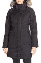 The North Face Women's 'Arctic' Down Parka With Removable Faux Fur Trim Hood Tnf Black