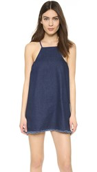 J.O.A. Denim Mini Dress Indigo