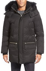 Men's Mackage Water Resistant 725 Fill Power Down Parka With Genuine Fox Fur And Shearling Trim