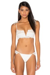 For Love And Lemons Montenegro Bikini Top White