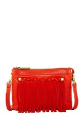 Ella Moss River Leather Crossbody Red