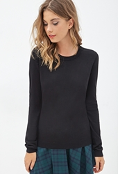Forever 21 Zippered Crew Neck Sweater