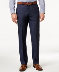 Ryan Seacrest Distinction Men's Slim Fit Blue Flannel Glen Plaid Suit Pants Only At Macy's