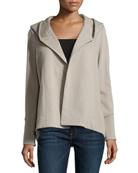 James Perse Cotton Blend Hooded Open Cardigan Pummice